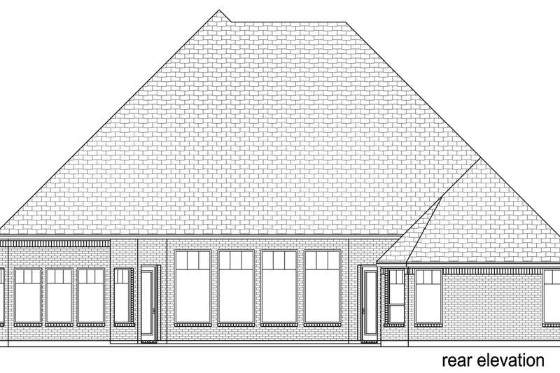 European Exterior - Rear Elevation Plan #84-600 - Houseplans.com