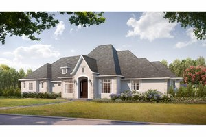 Dream House Plan - European Exterior - Front Elevation Plan #3-343