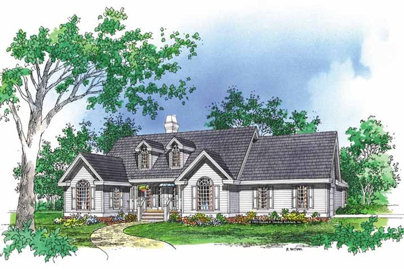 Country Exterior - Front Elevation Plan #929-600