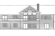 House Plan Design - Ranch Exterior - Rear Elevation Plan #117-850