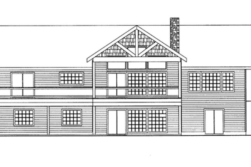 Ranch Exterior - Rear Elevation Plan #117-850 - Houseplans.com