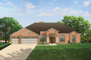 Home Plan - Mediterranean Exterior - Front Elevation Plan #1058-44
