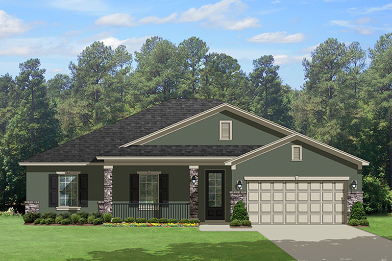 Architectural House Design - Traditional Exterior - Front Elevation Plan #1058-118