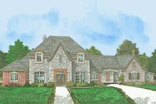House Plan Design - European Exterior - Front Elevation Plan #310-1301