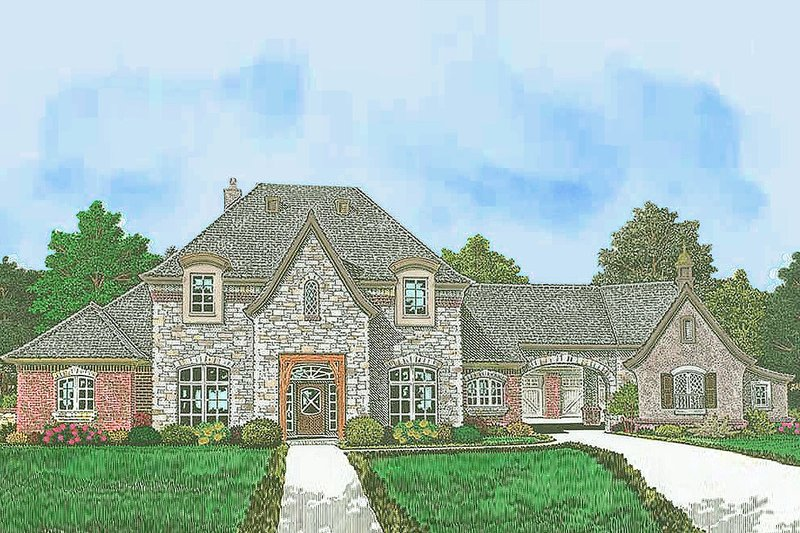 European Exterior - Front Elevation Plan #310-1301