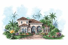 House Plan Design - Mediterranean Exterior - Front Elevation Plan #1017-147