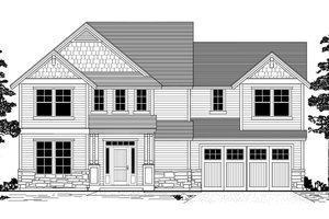 Craftsman Exterior - Front Elevation Plan #53-483
