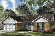 Country Style House Plan - 3 Beds 2 Baths 1157 Sq/Ft Plan #17-3021 Exterior - Front Elevation