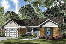 Country Exterior - Front Elevation Plan #17-3021