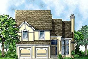Traditional Exterior - Front Elevation Plan #67-103