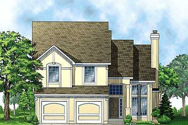 Traditional Style House Plan - 3 Beds 2.5 Baths 1746 Sq/Ft Plan #67-103 Exterior - Front Elevation