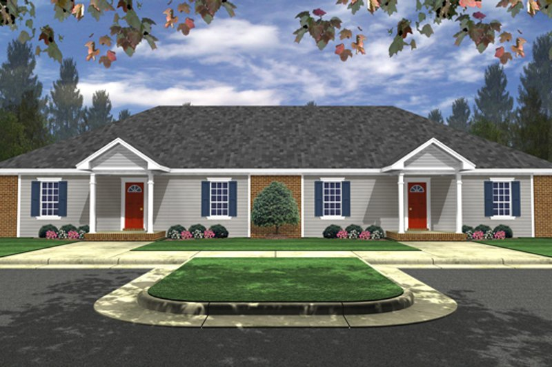 Traditional Exterior - Front Elevation Plan #21-326 - Houseplans.com