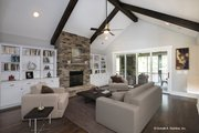 Country Style House Plan - 4 Beds 3 Baths 2445 Sq/Ft Plan #929-873 Interior - Family Room