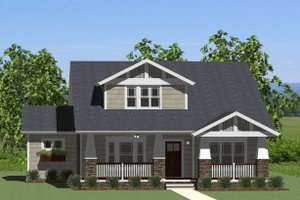 Front View - 2600 square foot Craftsman home