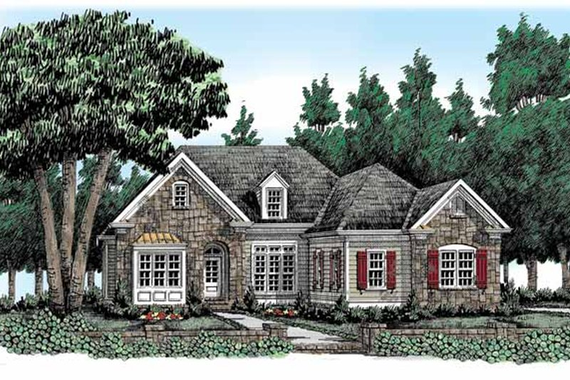 Country Exterior - Front Elevation Plan #927-315 - Houseplans.com