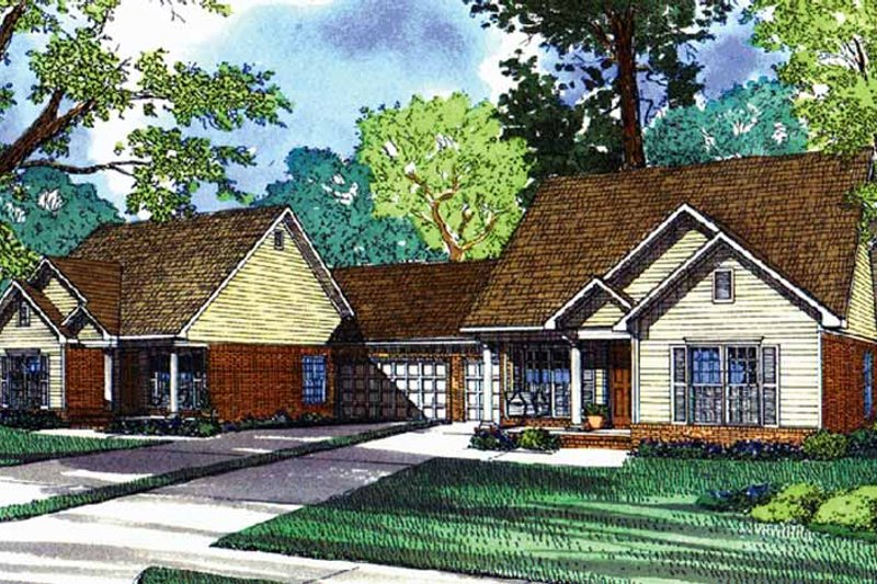 Ranch Exterior - Front Elevation Plan #17-3084