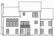 Traditional Style House Plan - 3 Beds 2.5 Baths 2351 Sq/Ft Plan #419-134 Exterior - Rear Elevation