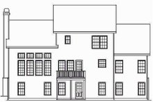 Home Plan - Traditional Exterior - Rear Elevation Plan #419-134