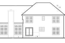 Colonial Exterior - Rear Elevation Plan #1053-49