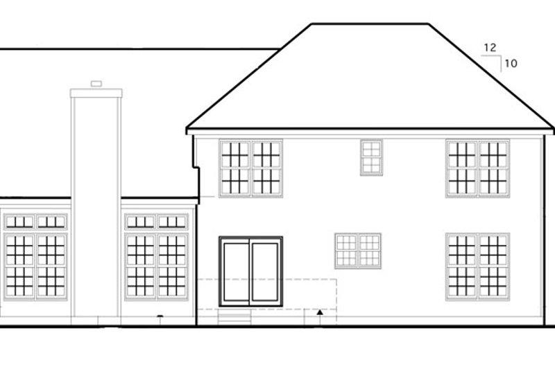 Colonial Exterior - Rear Elevation Plan #1053-49 - Houseplans.com