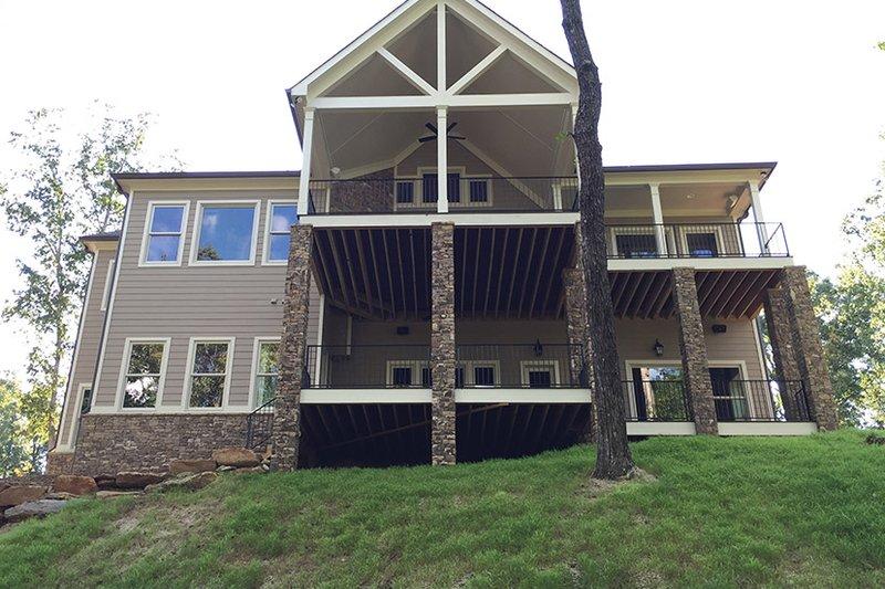 Ranch Exterior - Rear Elevation Plan #437-71 - Houseplans.com
