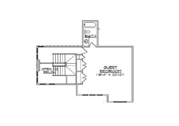 Craftsman Floor Plan - Upper Floor Plan Plan #5-466