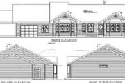 Modern Style House Plan - 3 Beds 2.5 Baths 2288 Sq/Ft Plan #117-303 Exterior - Rear Elevation