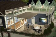 Craftsman Style House Plan - 3 Beds 2 Baths 1779 Sq/Ft Plan #56-629 Exterior - Rear Elevation