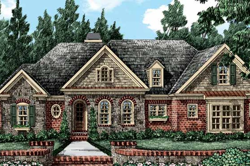 House Plan Design - European Exterior - Front Elevation Plan #927-412