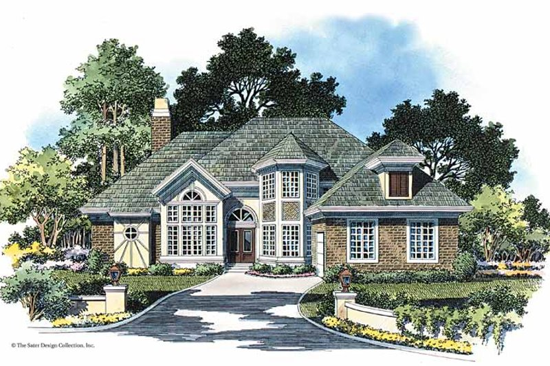 European Exterior - Front Elevation Plan #930-345