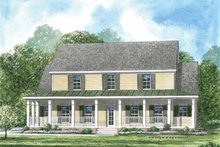 House Plan Design - Colonial Exterior - Front Elevation Plan #952-199