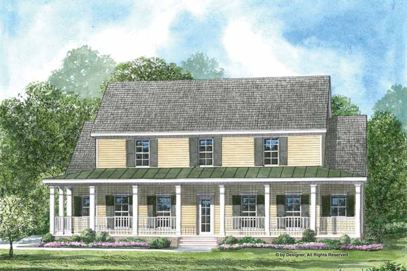 Colonial Exterior - Front Elevation Plan #952-199