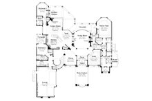 Mediterranean Floor Plan - Main Floor Plan Plan #930-442