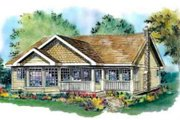 Traditional Style House Plan - 3 Beds 2 Baths 1368 Sq/Ft Plan #18-324 Exterior - Front Elevation