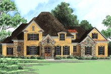 European Exterior - Front Elevation Plan #1054-30