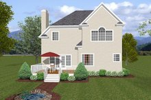 Architectural House Design - European Exterior - Rear Elevation Plan #56-556