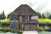Country Exterior - Front Elevation Plan #509-335