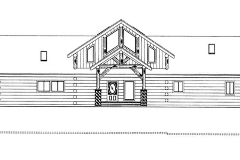 Log Exterior - Front Elevation Plan #117-823