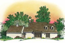 Dream House Plan - Country Exterior - Rear Elevation Plan #1016-81