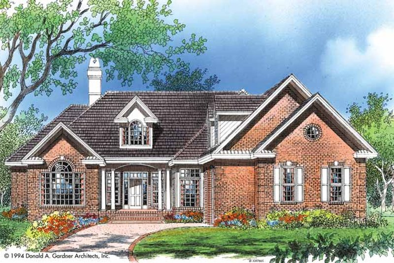 Architectural House Design - Traditional Exterior - Front Elevation Plan #929-177