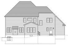 Colonial Exterior - Rear Elevation Plan #1010-167