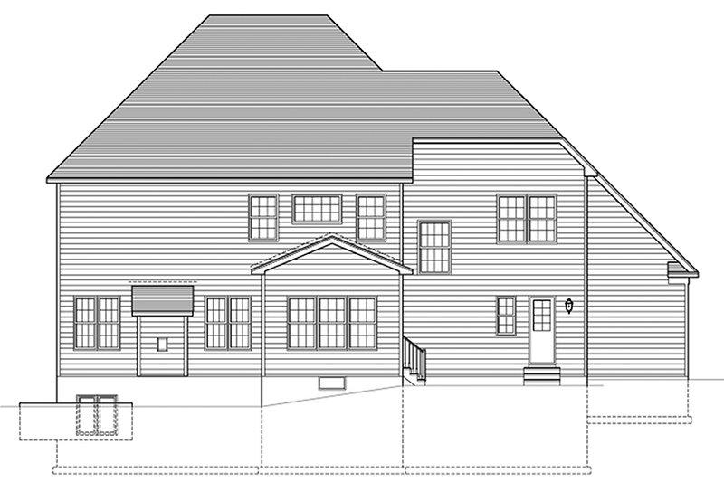 Colonial Exterior - Rear Elevation Plan #1010-167 - Houseplans.com