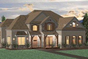 Country Exterior - Front Elevation Plan #937-9