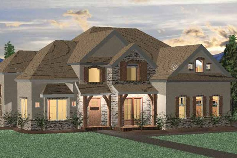 Country Exterior - Front Elevation Plan #937-9 - Houseplans.com