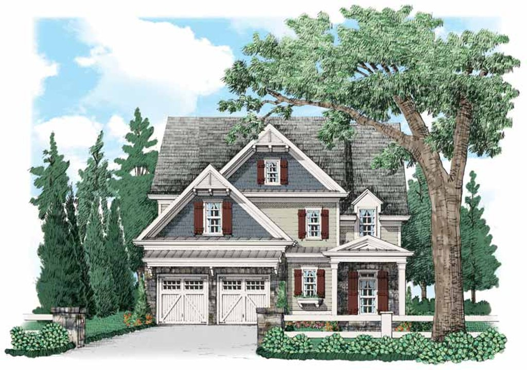 Country Exterior Front Elevation Plan 927 536