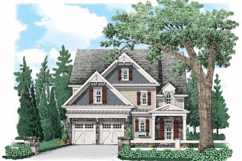 Country Style House Plan - 4 Beds 3.5 Baths 3200 Sq/Ft Plan #927-536 Exterior - Front Elevation