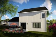 Farmhouse Style House Plan - 3 Beds 2.5 Baths 1495 Sq/Ft Plan #70-1454 Exterior - Rear Elevation