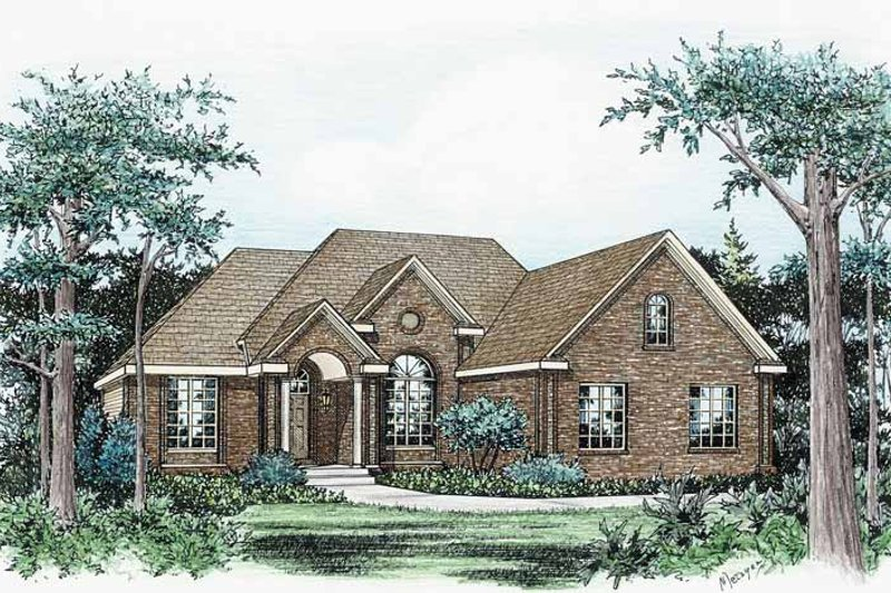 Dream House Plan - Traditional Exterior - Front Elevation Plan #20-2231