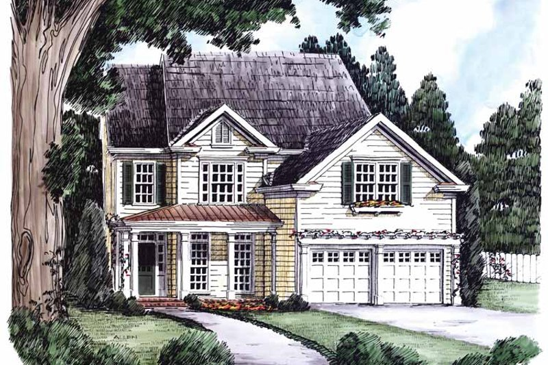 Country Exterior - Front Elevation Plan #927-627