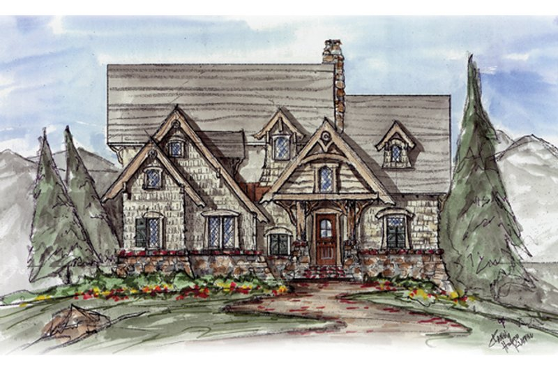 Craftsman Exterior - Front Elevation Plan #54-374 - Houseplans.com